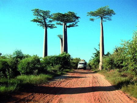 stock photo : Taxi-brousse in Madagascar,Africa.